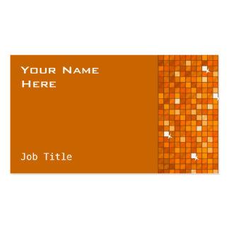 El disco teja el lado anaranjado de la tarjeta de tarjetas de visita