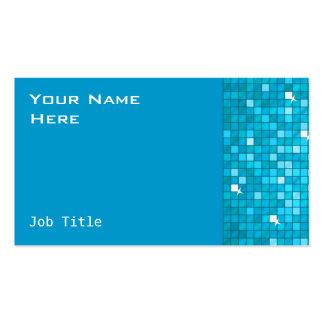 El disco teja el lado azul de la tarjeta de visita