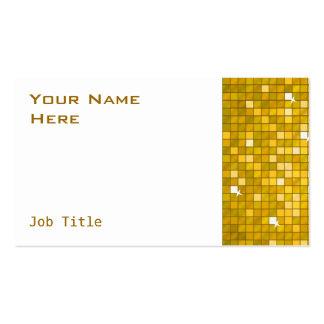El disco teja el lado del blanco de la tarjeta de tarjetas de visita