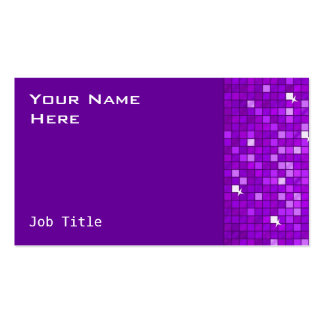 El disco teja el lado púrpura de la tarjeta de tarjetas de visita