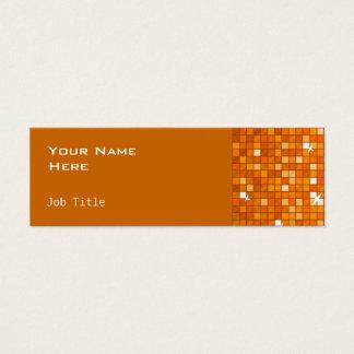 El disco teja el naranja flaco lateral anaranjado tarjeta de visita pequeña
