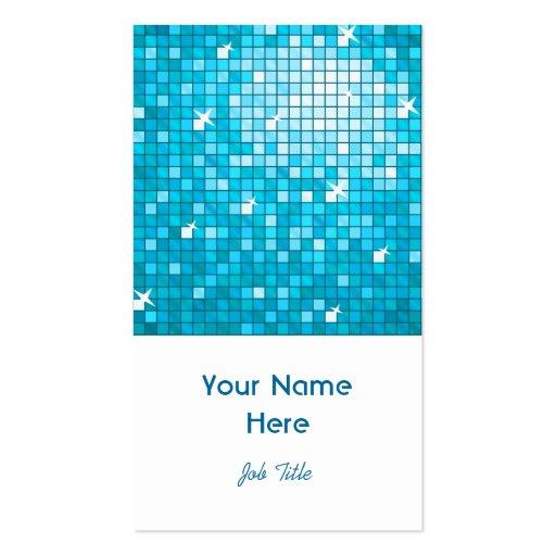 El disco teja el retrato azul del blanco de la tar tarjeta personal
