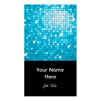 El disco teja el retrato azul del negro de la tarjetas de visita
