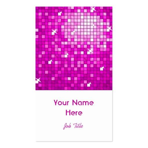 El disco teja el retrato rosado del blanco de la t tarjeta de visita