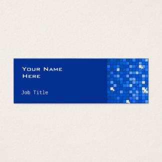 El disco teja flaco lateral azul marino tarjeta de visita pequeña