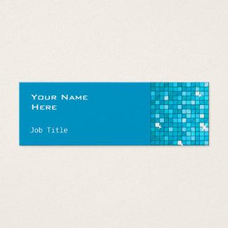 El disco teja flaco lateral azul tarjeta de visita pequeña