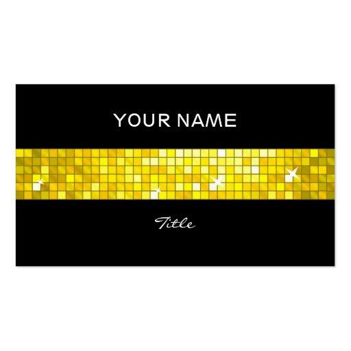 El disco teja la parte posterior amarilla del negr tarjeta de visita
