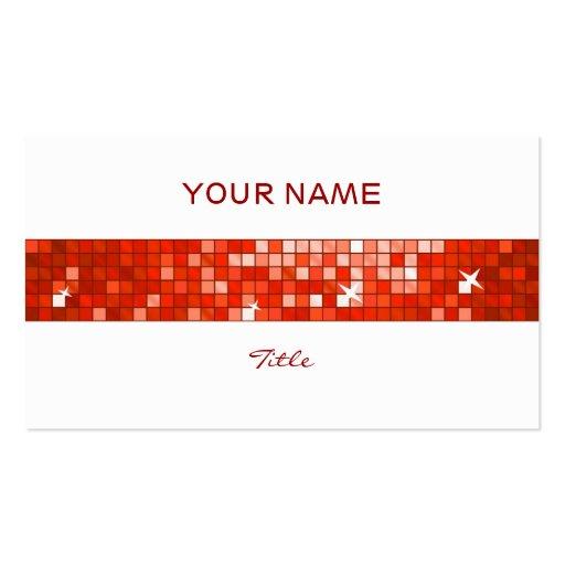 El disco teja la parte posterior roja del blanco d plantilla de tarjeta de visita