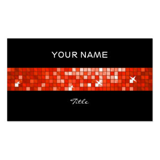 El disco teja la parte posterior roja del negro de tarjetas de visita