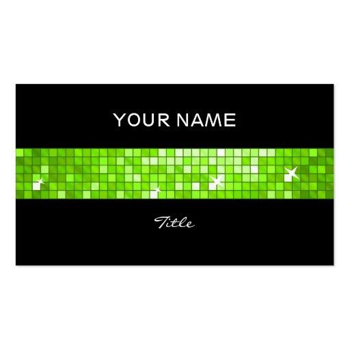 El disco teja la parte posterior verde del negro d plantillas de tarjetas de visita