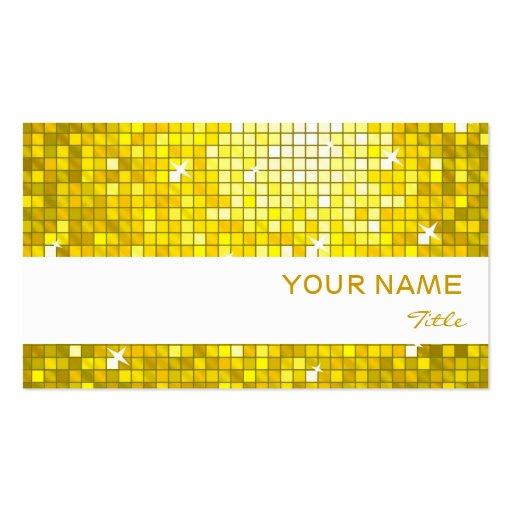 El disco teja la raya amarilla del blanco de la ta plantillas de tarjetas de visita