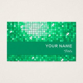 El disco teja la raya del jade de la tarjeta de