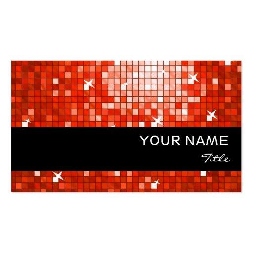 El disco teja la raya negra roja de la tarjeta de  tarjetas de visita