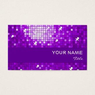 El disco teja la raya púrpura de la púrpura de la tarjeta de negocios