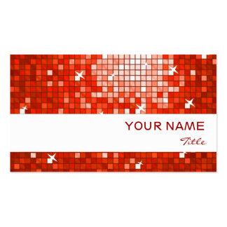 El disco teja la raya roja del blanco de la tarjet plantilla de tarjeta de visita