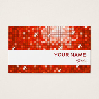 El disco teja la raya roja del blanco de la tarjeta de negocios