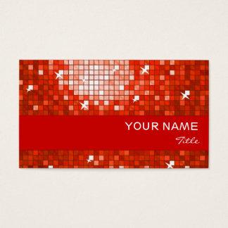 El disco teja la raya roja del rojo de la tarjeta