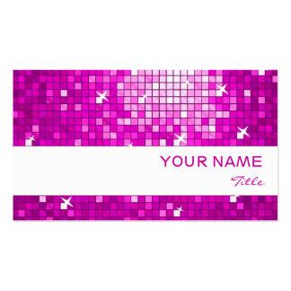 El disco teja la raya rosada del blanco de la tarjetas de visita