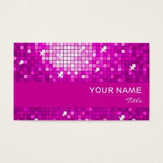 El disco teja la raya rosada del rosa de la tarjeta de negocios