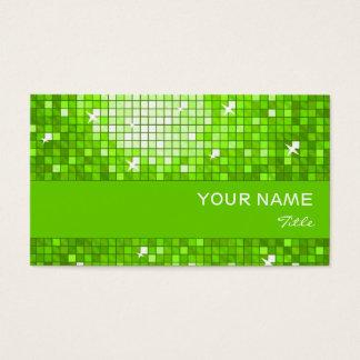 El disco teja la raya verde del verde de la tarjeta de negocios
