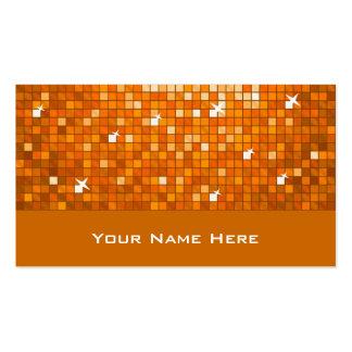 El disco teja la tarjeta de visita anaranjada