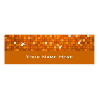 El disco teja la tarjeta de visita anaranjada flac