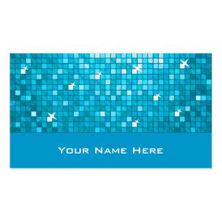El disco teja la tarjeta de visita azul