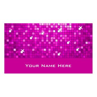 El disco teja la tarjeta de visita rosada
