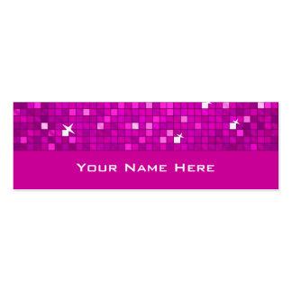 El disco teja la tarjeta de visita rosada flaca