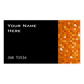 El disco teja negro anaranjado del lado de la tarjetas de visita