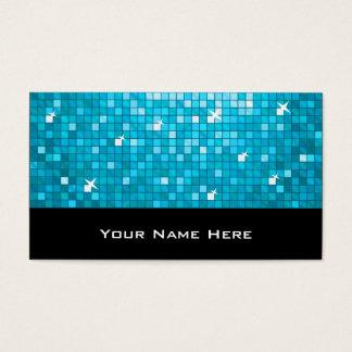 El disco teja negro azul de la tarjeta de visita
