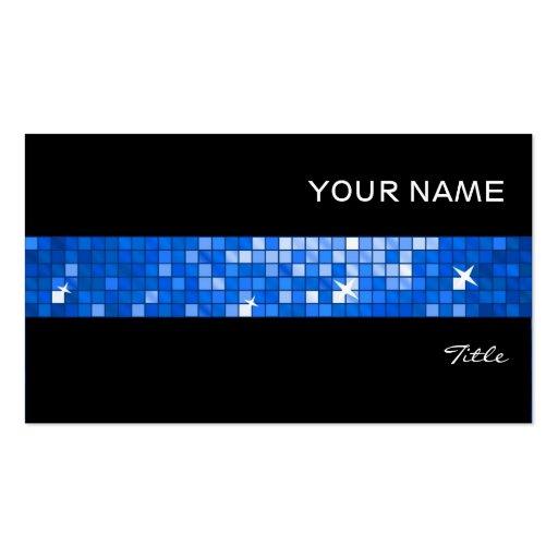 El disco teja negro azul marino de la raya de la t tarjeta de visita