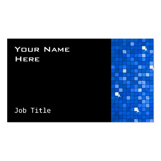 El disco teja negro azul marino del lado de la tar tarjeta de visita