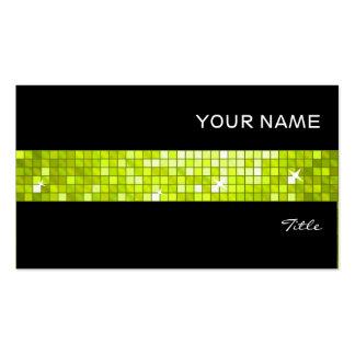 El disco teja negro de la raya de la teja de la tarjetas de visita