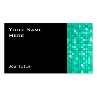 El disco teja negro del lado de la tarjeta de tarjetas de visita