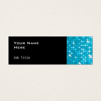 El disco teja negro flaco lateral azul tarjeta de visita pequeña