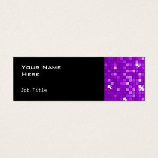 El disco teja negro flaco lateral púrpura tarjeta de visita pequeña