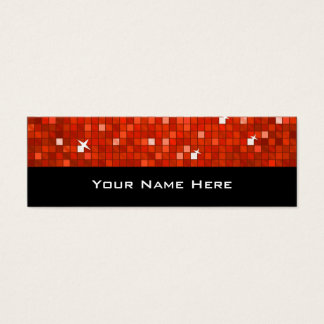 El disco teja negro flaco rojo de la tarjeta de