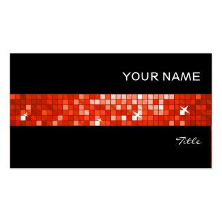 El disco teja negro rojo de la raya de la teja tarjetas de visita