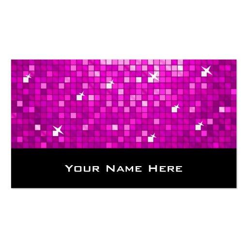 El disco teja negro rosado de la tarjeta de visita