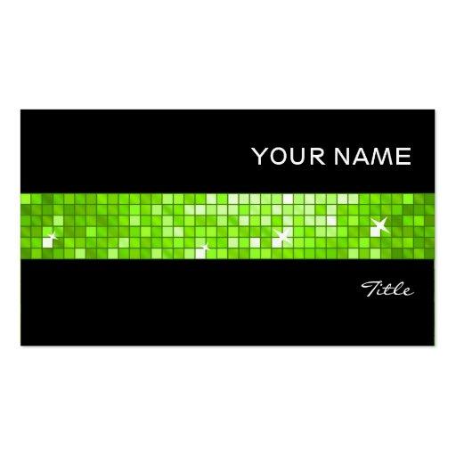 El disco teja negro verde de la raya de la teja plantillas de tarjetas personales