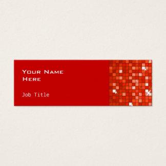 El disco teja rojo flaco de visita del lado rojo tarjeta de visita pequeña