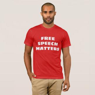 El discurso libre importa camiseta
