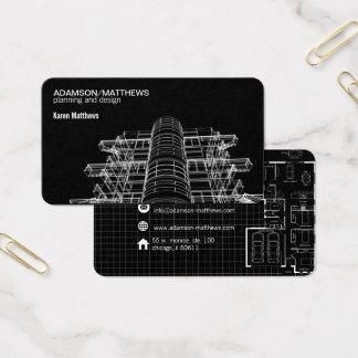 el diseñador del arquitecto planea la tarjeta de