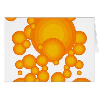 El diseñar anaranjado del año de los años 70 tarjeta de felicitación