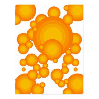 El diseñar anaranjado del año de los años 70 postal