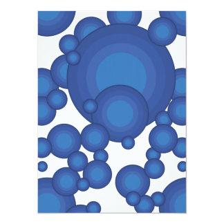 El diseñar azul del año de los años 70 invitación