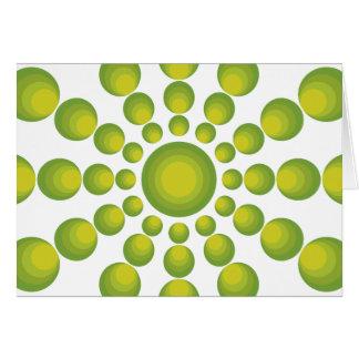 El diseñar verde del año de los años 70 tarjetón