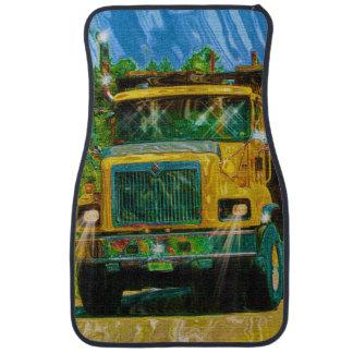 El diseño del andamio del camionero amarillo del c