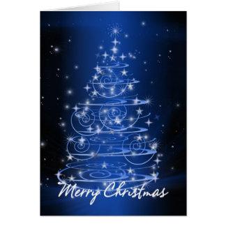 El diseño del árbol de navidad protagoniza y tarjeta
